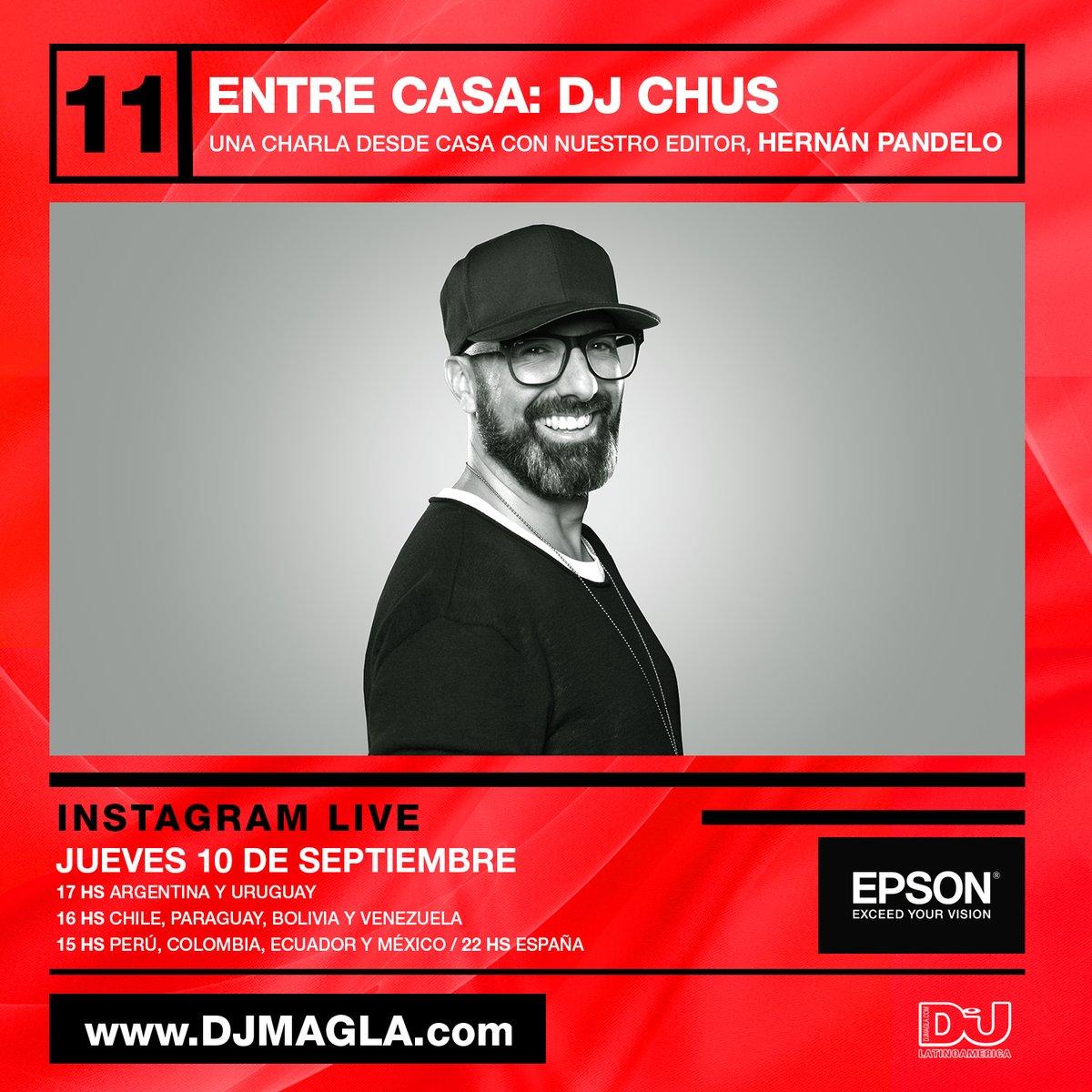 Tomen nota: Mañana desde las 5 PM GMT-3  @hpandelo estará charlando con  @DJCHUS en vivo desde nuestro Instagram ¡Los esperamos! https://t.co/Ikhs6isSiy