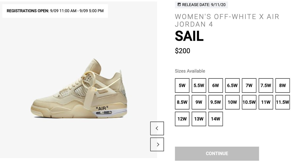 Solelinks On Twitter Women S Off White X Air Jordan 4 Sail Online Raffle Via Ubiq Enter Https T Co Rblozfu0ic Due to our site being down (www.solelinks.com), we will use this page for release links temporarily till we get the back site up and running smoothly. solelinks on twitter women s off