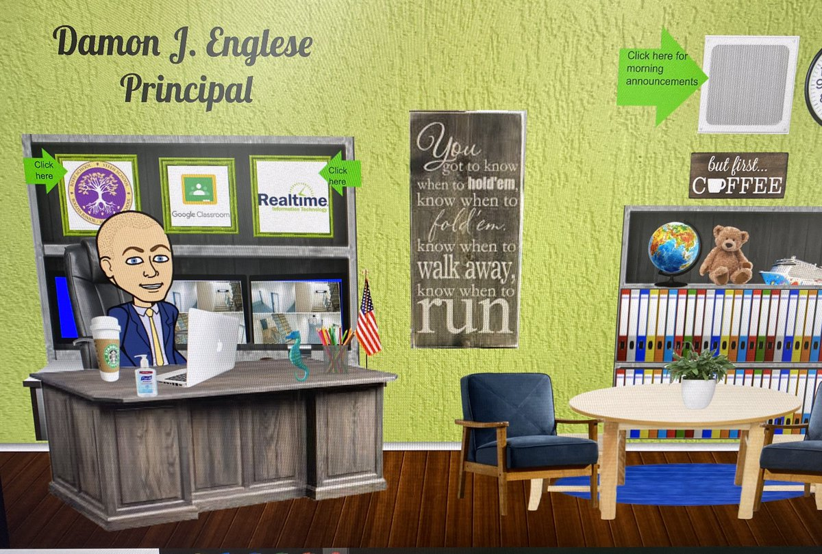 Virtual office up and running!  Morning announcements to begin next week from my office. Stay tuned! @BogotaPublic https://t.co/NZZeWWzdof