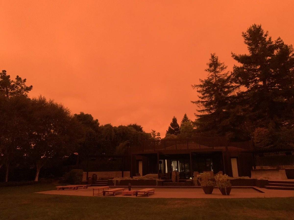 At my sister's place 20miles south of SF. 😱