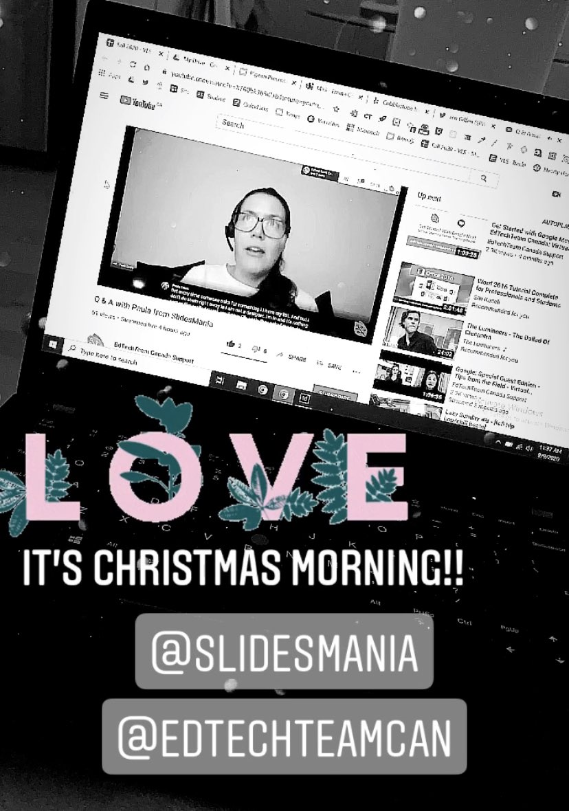 Loved. Every. Single. Minute of this Q&A with Paula from @SlidesManiaSM ❤️.  You are my idol and inspiration in so many different ways! Thank you for sharing your time, templates, and ideas! https://t.co/mEWayE3ZhK @EdTechTeamCAN @VirtualGiff @armstrongedtech https://t.co/KKJHktrykb