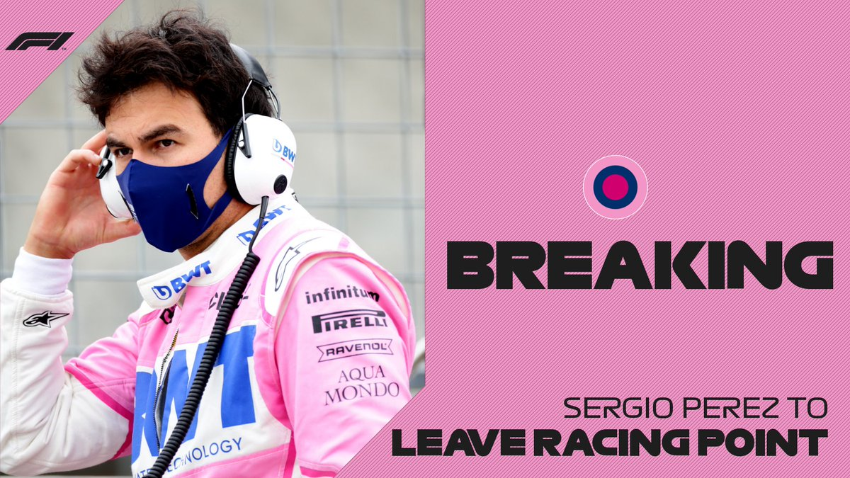 BREAKING: Sergio Perez announces that he is leaving Racing Point at the end of the 2020 season   #F1 https://t.co/Hw06g8gWmC