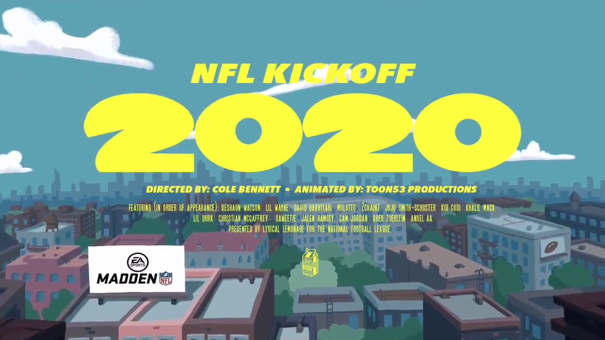 Football is back 🍋🏈🔥 @LyricaLemonade x @_ColeBennett_ x NFL #Kickoff2020 📹: @toon53