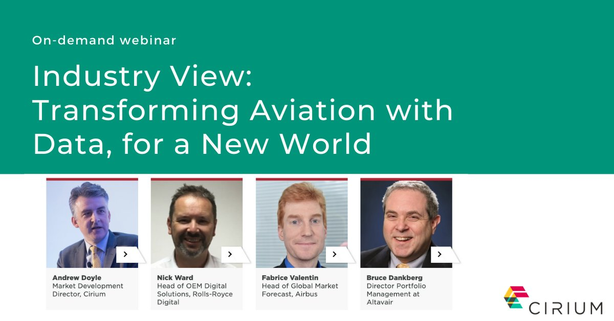 Now on-demand. This session covers: managing stored aircraft as a lessor or MRO specialist, the return to service of the global fleet, winners and losers by aircraft type, using data and advanced analytics, and what senior leaders view as vital. Register: https://t.co/fmggHN7PPY https://t.co/JLhQBJ0HeJ