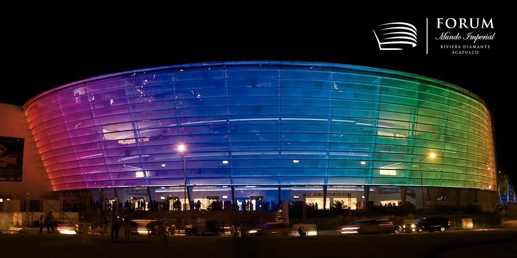 ¿Sabías que nuestra fachada comprende con 4,985 luminarias de LEDS para disfrutar de una vista inigualable, llena de magia y color?  #ForumImperial #RivieraDiamanteAcapulco https://t.co/nJk4x0hAbU