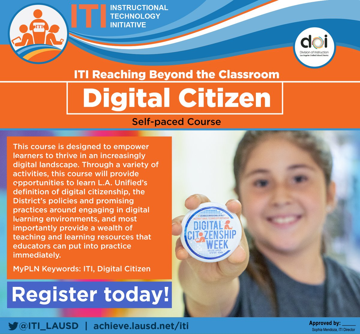 ATTN @LASchools: Interested in learning how to engage in #DigCit w/ your students?  Join this self-paced course to explore #DigCitCommit practices! Completing this course supports  @CommonSenseEd  Certification! REGISTER VIA MyPLN.  cc @LAUSDLDSouth @LDNESchools @LAUSDNorthwest https://t.co/h1LqiUeWF6