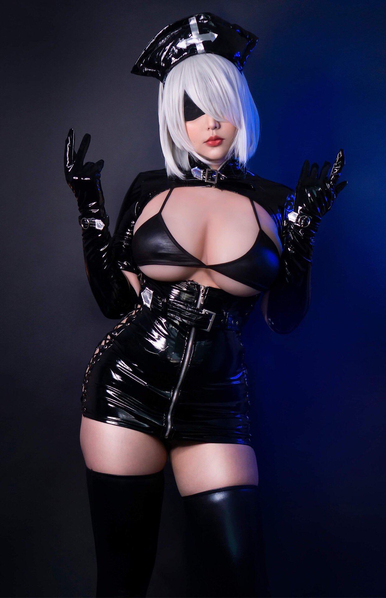 Hana Bunny 2B Dark Nurse Cosplay
