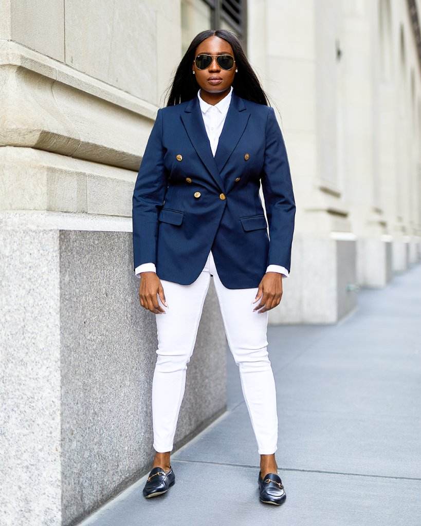 "#MyBrooksLook ""This is my 'go and get it' look. I love the bold silhouette of a double breasted blazer. It's all about timeless sophistication, beautiful tailoring, quality and longevity.""  @Ms_Fela #WomensCollectionWednesday @Zac_Posen  Shop the Blazer: https://t.co/pG62iZUp1i https://t.co/ukvcsYgSDg"