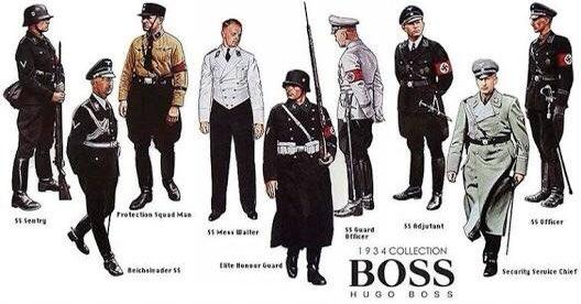 Para que no vayan a usar Hugo Boss, tal vez los judíos se puedan ofender como en la agencia de Volkswagen https://t.co/7Zt0y9gGah