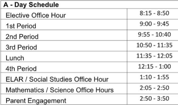 Happy Thursday, Eagles! Remember: Today is an A day on your virtual learning schedule. #WeAreDiamondHill