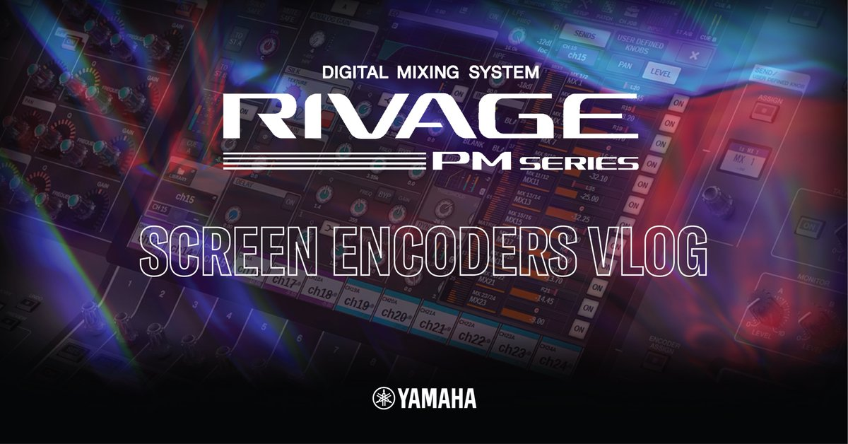 Yamaha UK R&D Manager Andy Cooper highlights the enhanced functionality of the assignable encoders and screen encoder parameter control. #yamaha #audioengineer #proaudio  #rivagepmseries Check it out at the link below. https://t.co/dR3ncWWYdI https://t.co/OWugyNGLjN