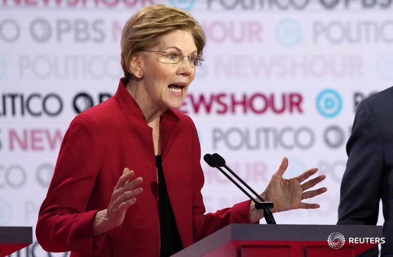 Wall Street executives must be grimacing at the prospect of Elizabeth Warren becoming U.S. Treasury secretary. But in that role, she might be the least of their worries, writes @GinaChon. https://t.co/RS8NqZgE3a https://t.co/pnJnxahX2a