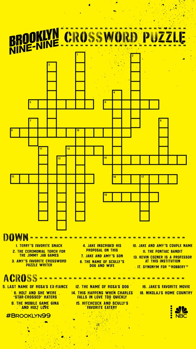 Make Amy proud and put your crossword skills to the test.