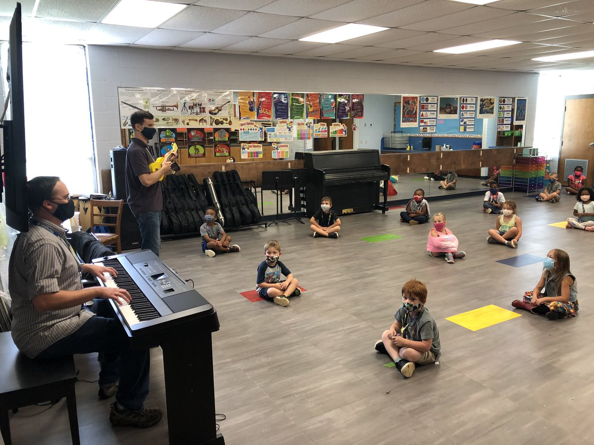 Our kids love going to music with Mr. Garen and Mr. Matthews @ChapelHill_ISD @Carp_CHISD