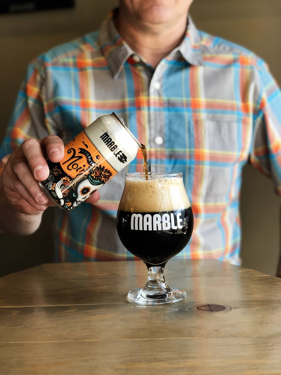 Pumpkin Noir is coming soon! Don't miss the draft and can release on 9.16.20 at all taproom locations! 🎃  #pumpkinnoir #pumpkinale #craftbeer #craftbeerlover #marblebrewery #pumpkinbeer #pumpkin #abqbeer #nmbeer #abq #brewedinburque https://t.co/Eq71EQ8bDY