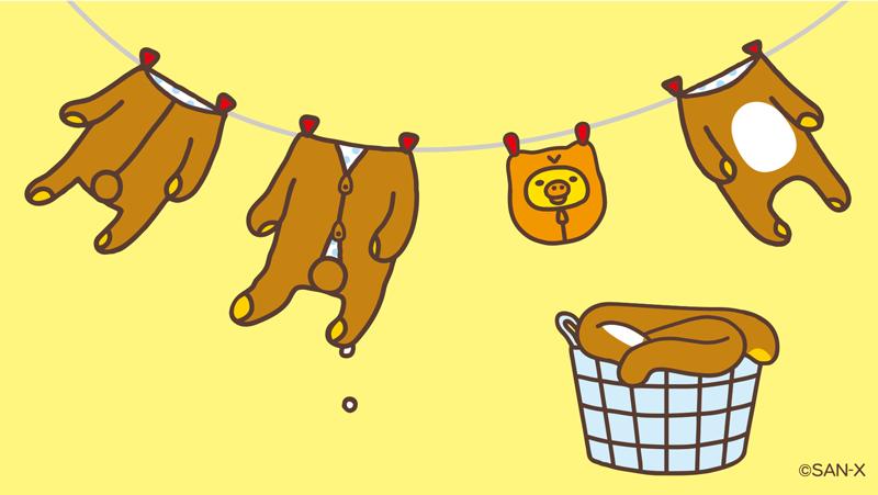 0がつく日はキイロイトリの日   今日は洗濯日和♪ あれ、いたずらされちゃった?