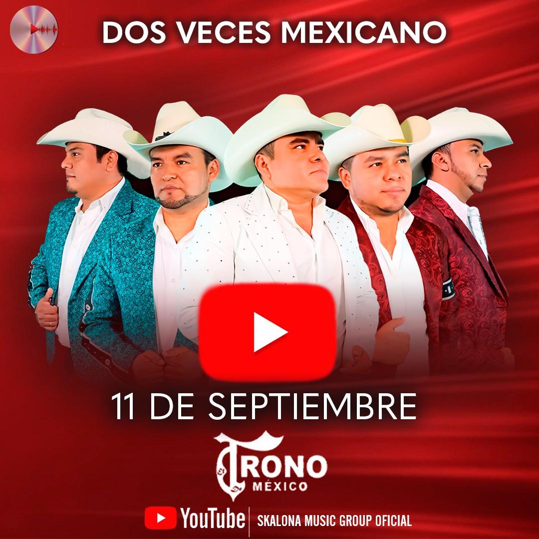 #FelizMiercoles !! Comenzamos los festejos patrios con @ElTronodeMexico 🇲🇽💥 Este viernes 7 pm a través de YouTube   FALTAN SOLO 2 DÍAS 🔥‼️Viva México‼️ https://t.co/2T7pKj2MrX