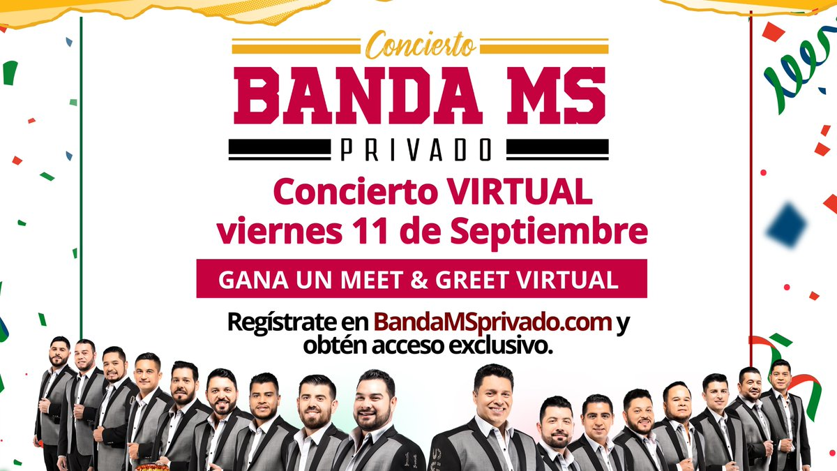 Do you know @BANDA_MS?  See https://t.co/qjh0n1peJv and get exclusive access to a concert from home, this FRIDAY! Your donation will go to #LULAC and you can enter for a chance to win prizes, including a meet and greet with the band.  DON'T MISS OUT! MUST BE 21 YEARS OLD OR OVER. https://t.co/qwRZSHRZ3j