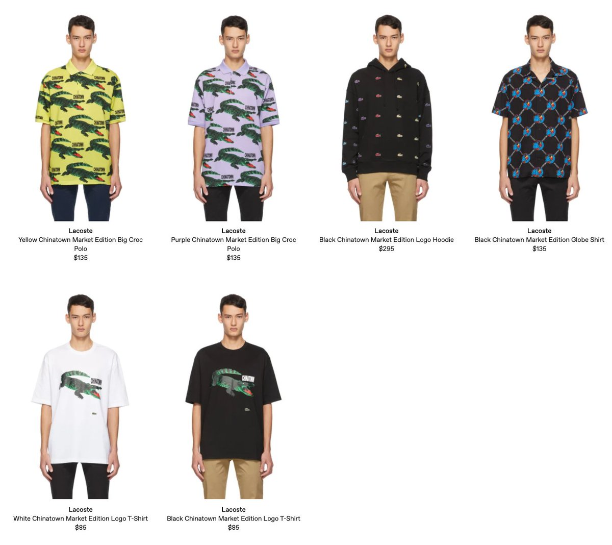 Sole Links On Twitter Ad Live Via Ssense Lacoste X Chinatown Market Apparel Https T Co J5onxxher2