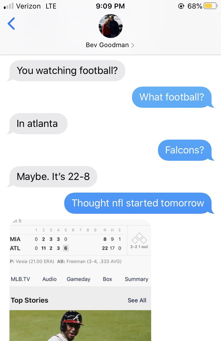 When you're engaged to a smart-aleck girl who watches much more sports than you do. ⚾️🤦🏼♂️ @BevyGood