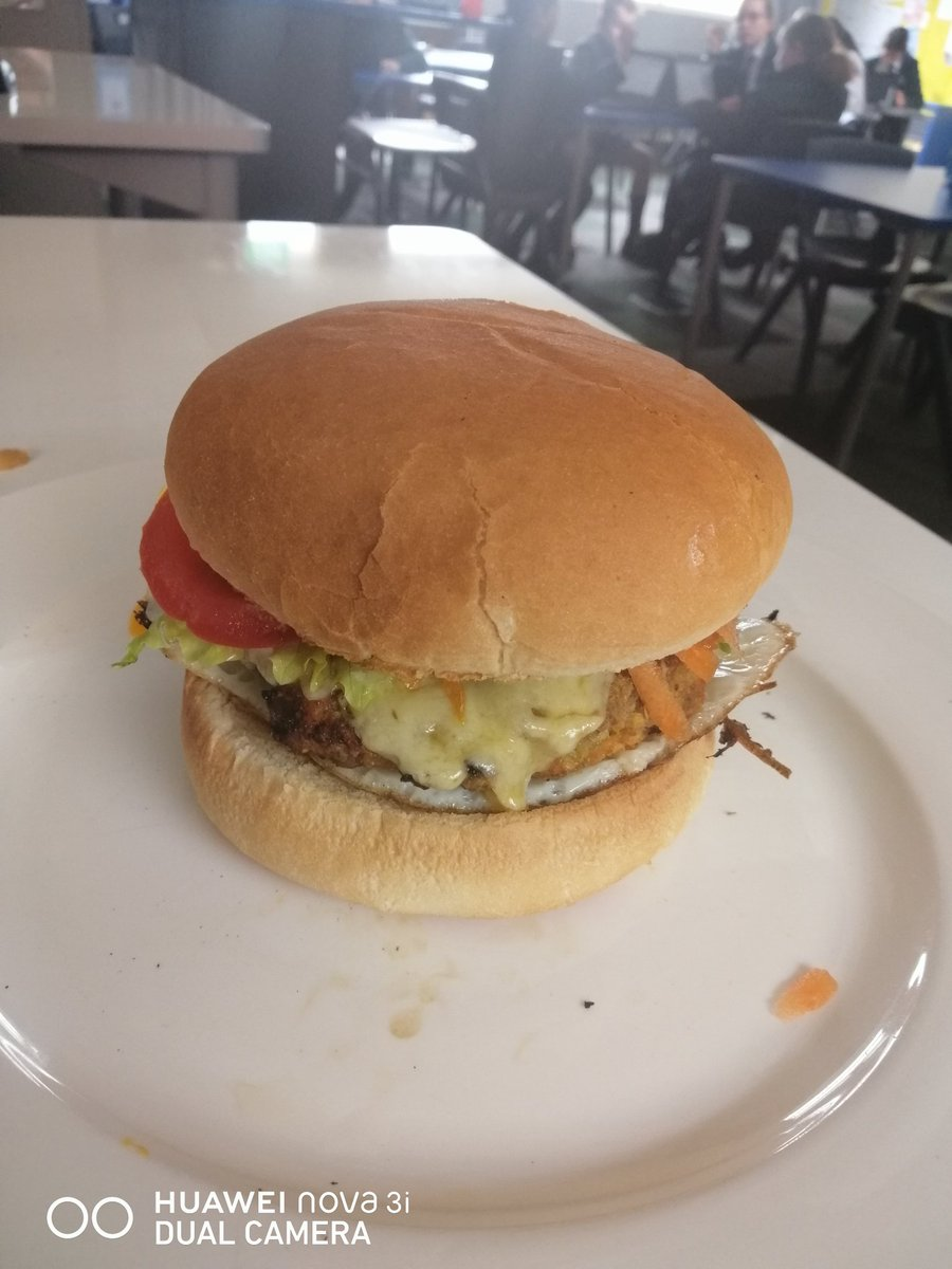 Lunch! Year 10 burgers.