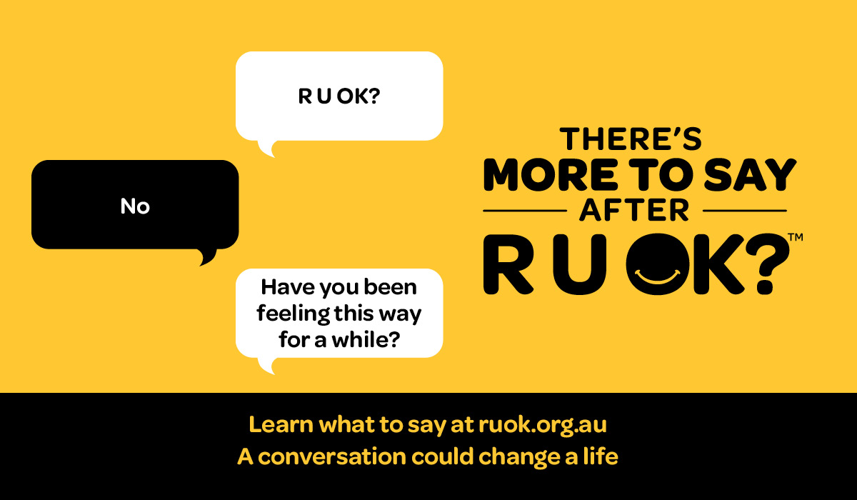 Today is #RUOKDay. Today & every day, we encourage our students & all members of their community to ask their friends 'are you okay?'. It has been a challenging year & it is important to support those around you & to seek help when needed. #theresmoretosay https://t.co/Y75r145kmW