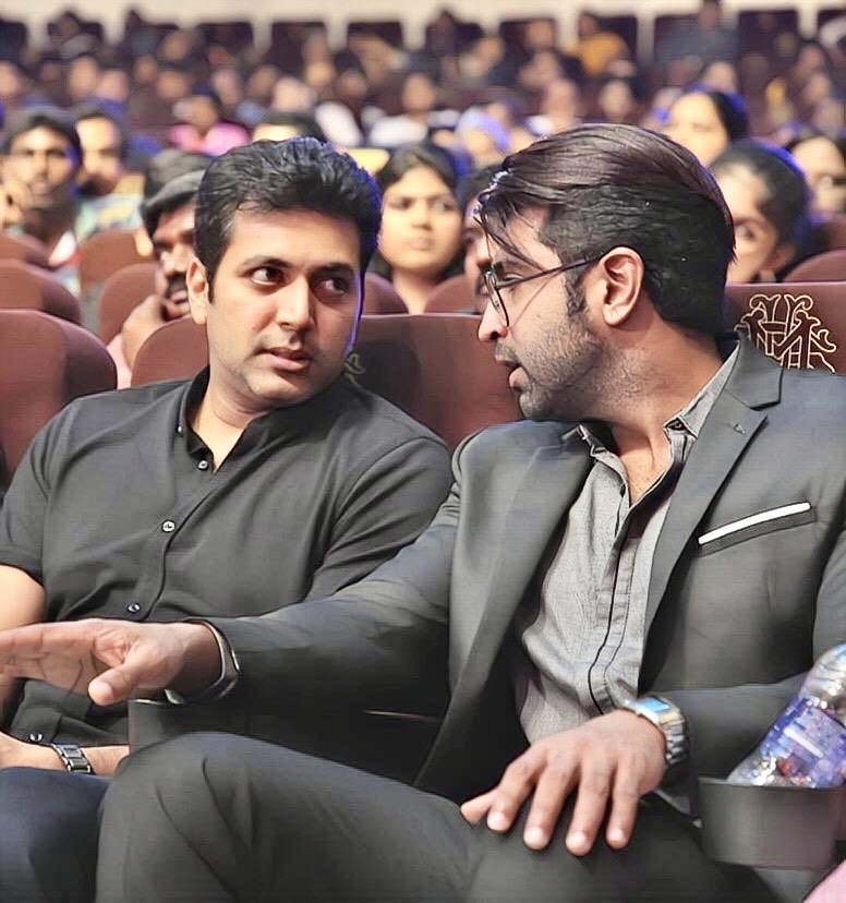 Happy birthday to my dearest brother @actor_jayamravi !! Have a wonderful year filled with happiness and success..😘 God bless!! https://t.co/KpzpeTaInt