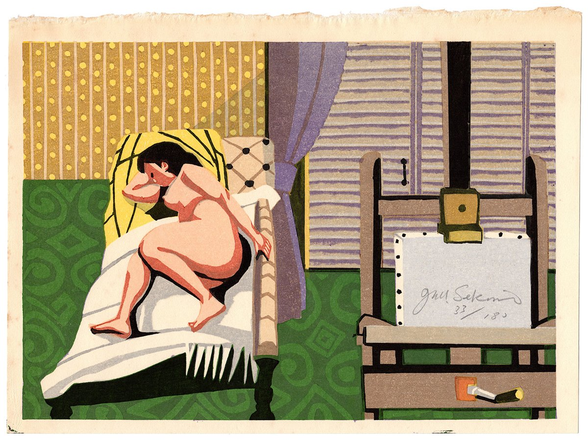 #sosakuhanga #woodblockprint #sekinojunichiro #artistsnude #japaneseartists #20thcentury #illustratedbook #nudes #actresses #design #japan #japanese #art #japaneseart  Lot 00746 N.1 sosaku-hanga woodblock print Sekino Junichiro ARTIST'S NUDE  https://t.co/SZUgwH4EQB https://t.co/vw4gUUt0gm