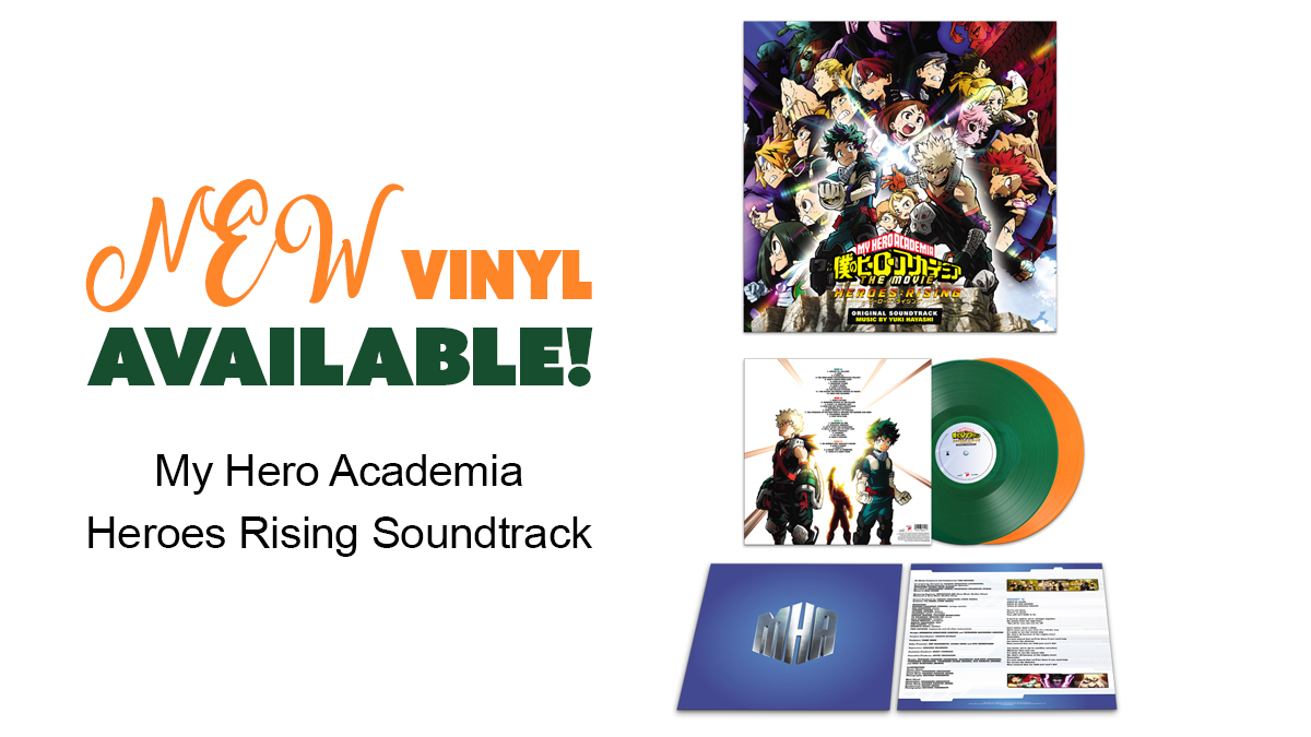 🎶 Now Available on Vinyl! 🎶 My Hero Academia Heroes Rising Soundtrack! 💪 Relive the iconic moments from the movie today 👉 https://t.co/eSy4cbpl65   #MyHeroAcademia #HeroesRising #Sountrack #MHA #Deku #Bakugo #OneForAll #Anime #Manga #Vinyl https://t.co/H5K4SE4Iju