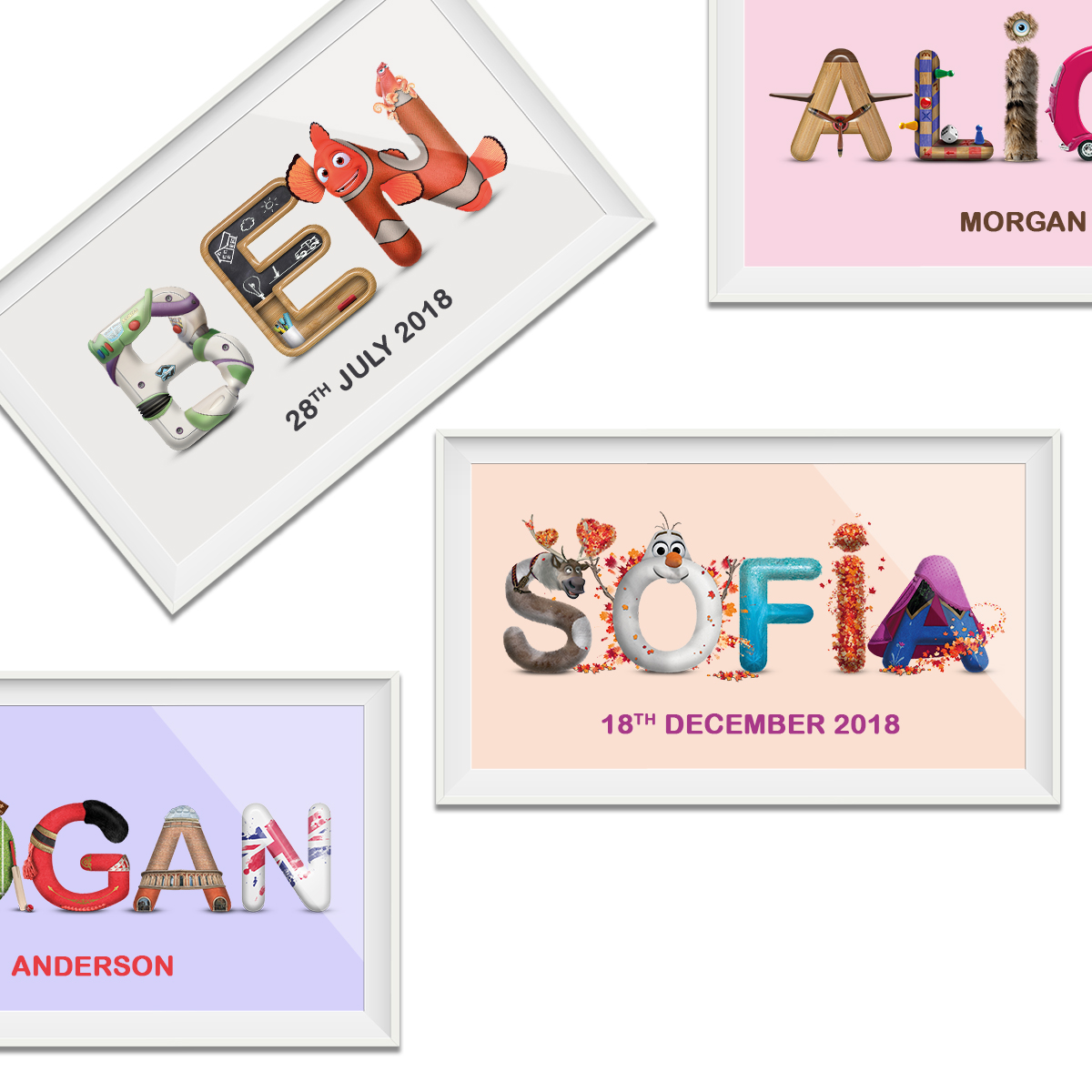 Child's Personalised Name from £5 ! monalphabet.co.uk/shop/personali…