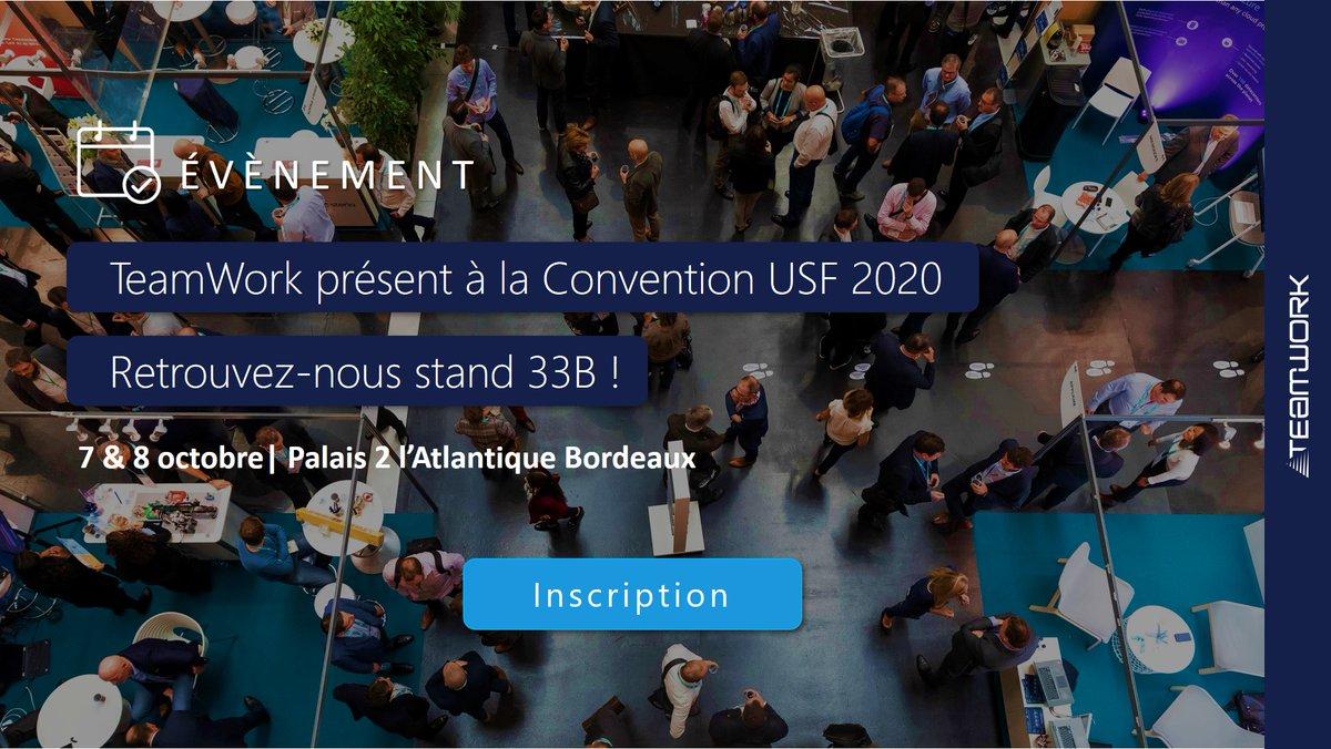 Image for the Tweet beginning: 🙋♂️TeamWork présent à la #ConventionUSF
