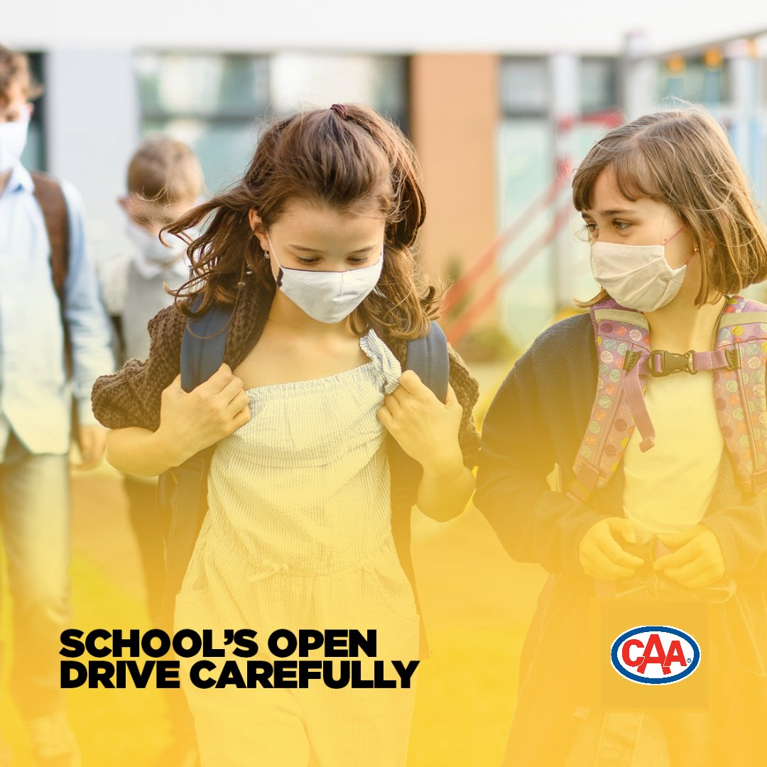 School's Open - Drive Carefully  Mornings can be a dangerous time, as students travel to the bus stop, ride their bikes or walk to school. In the afternoon children are often distracted by other activities on their journey home.  Please slow down & keep an eye out for them. https://t.co/QFoxnO85wM