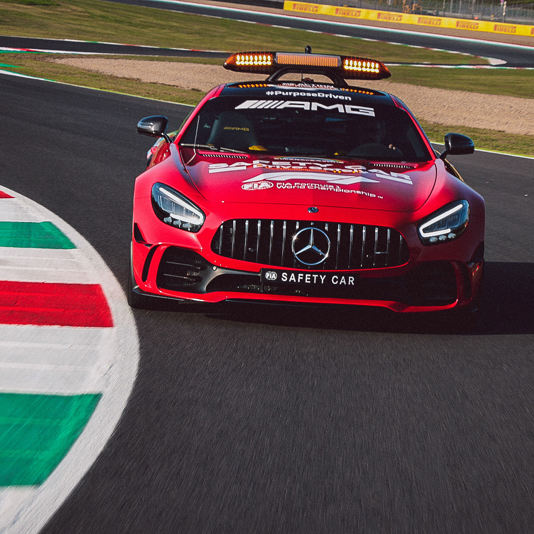 Special occasions require special outfits - that's why we've dressed our Mercedes-AMG Safety Car in red to mark @ScuderiaFerrari's 1000th @F1 Grand Prix. 🏎️ Congrats on the milestone! 🎈
