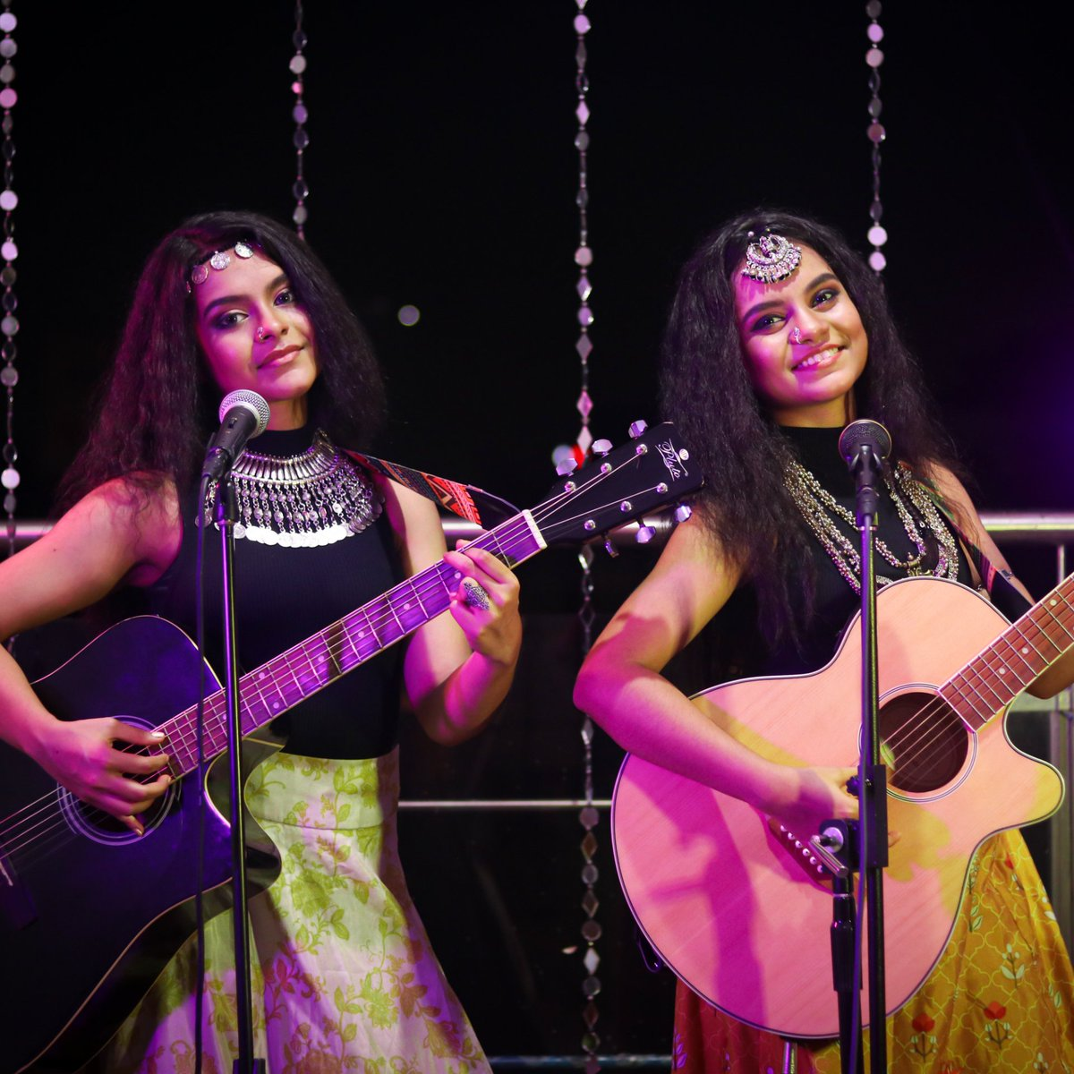 Episode 14 of Balcony Concert releasing tonight at 12am IST on YouTube !!  Can you guess what song it is ? #NandySisters #BalconyConcert