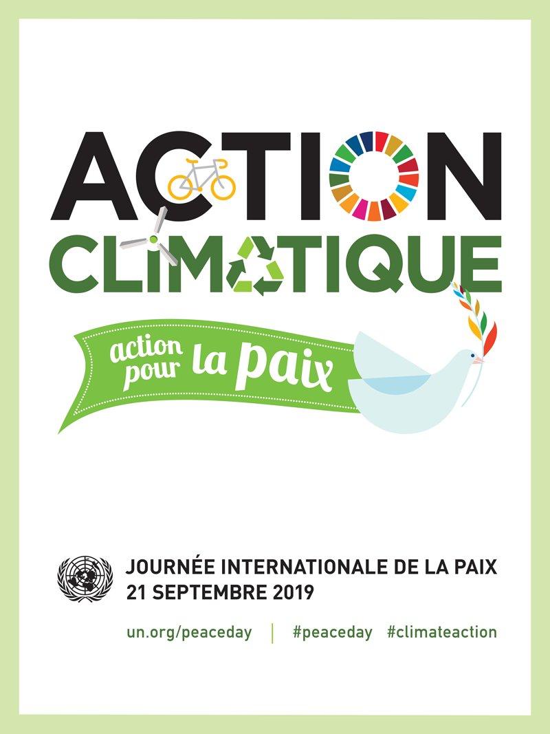 «Aujourd'hui, la paix fait face à 1 nouveau danger: l'urgence climatique, qui menace notre sécurité, nos moyens de subsistance, notre vie.C'est pourquoi cette année la JI de la paix sera placée sous le thème de l'#actionclimatique.» @antonioguterres, SG de l'@ONU_fr https://t.co/5Wg4j2Xc0m