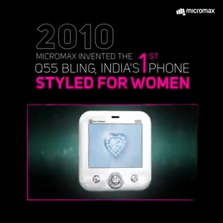 Every Indian woman has a style that can't be imitated.  Back in 2010, we invented the Micromax Q55 Bling, a one-of-a-kind device that helped her shine. In 2020, we are now reinventing ourselves for India.  #JoinTheRevolution #VocalForLocal https://t.co/O2heR3SroV