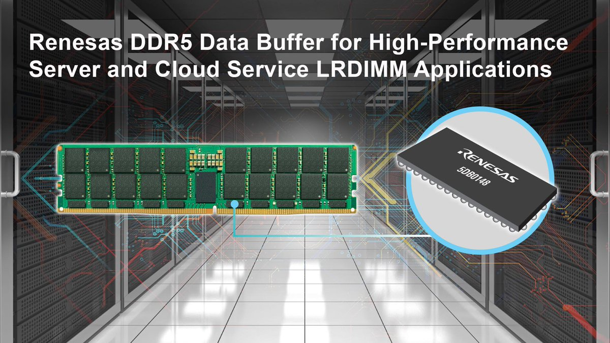 Check out #Renesas latest high-speed, low-power data buffer that delivers improved speed and bandwidth for DDR5 #DRAM and storage class memory modules – https://t.co/Mcie6EiGmg #DataCenter #CloudApplications https://t.co/7FdOzNrYBL