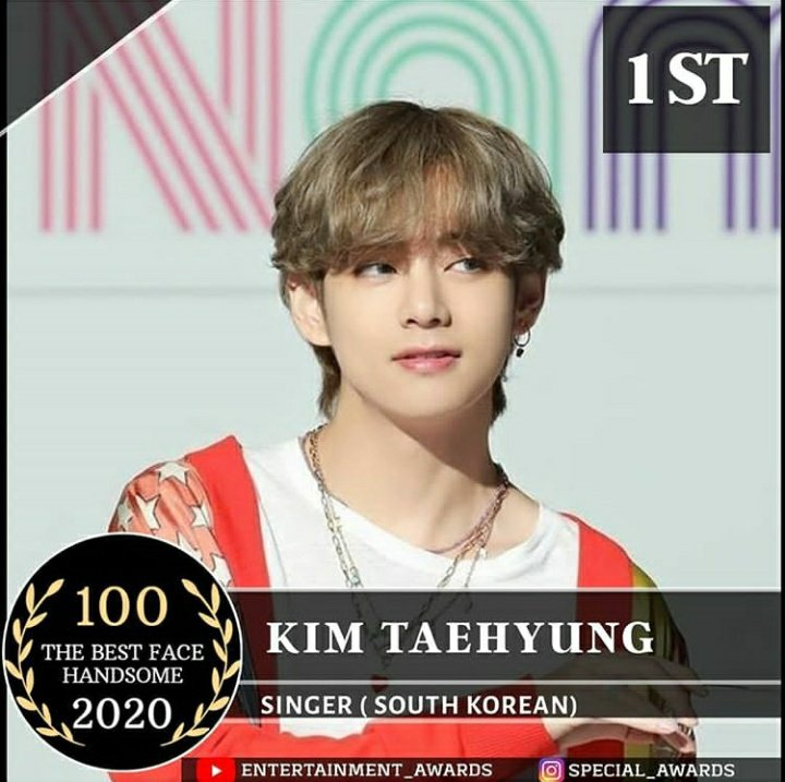 "INFO l 100920 l 🌙  ""Kim Taehyung"" ha ganado el concurso ""100 The Best Face Handsome 2020""hecho por por Special Awards.  #BTS #김태형 #BTSARMY #V  #TaehyungHandsome #Taetae @BTS_twt  •l Taehyung Argentina l•  CR:KTH_OUTSOLD https://t.co/XDeYAvjQ0X"