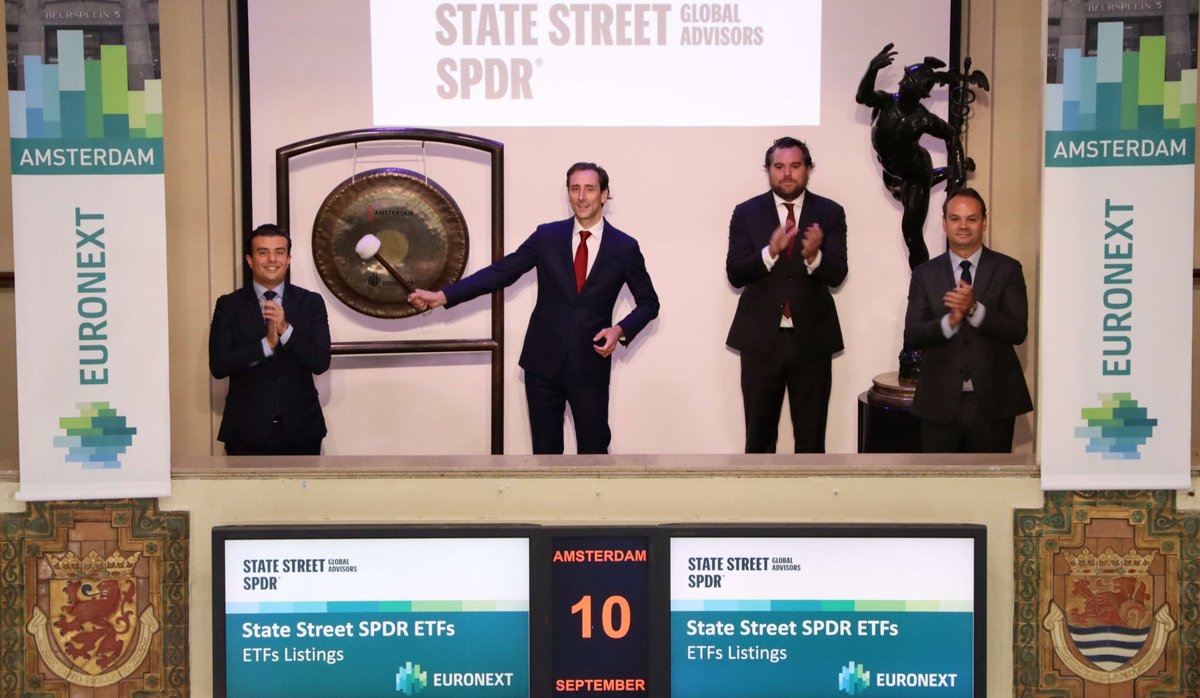 Euronext is proud to share another gong ringing with State Street as they have recently listed another two #SPDR #ETFs on Euronext Amsterdam. Welcome! https://t.co/4xW7hoZBbF