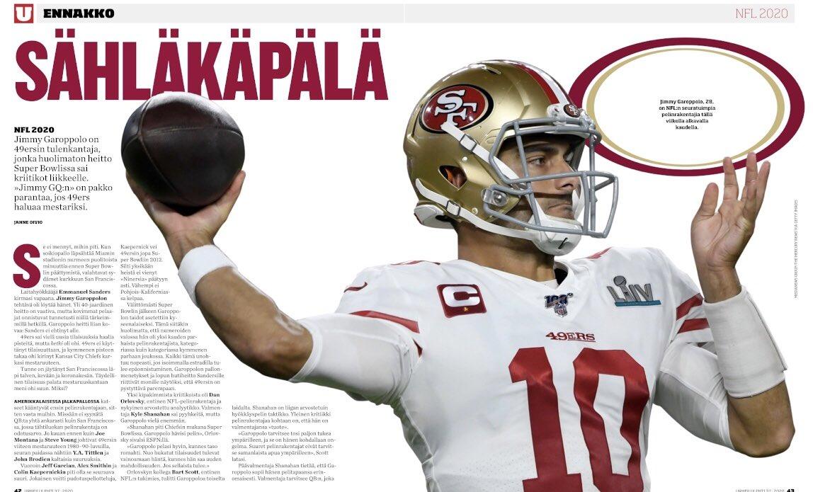 Uudessa lehdessä myös NFL-ennakot. Kirjoittajana @JanneOivio #nflfi https://t.co/TqDpEYD9nD