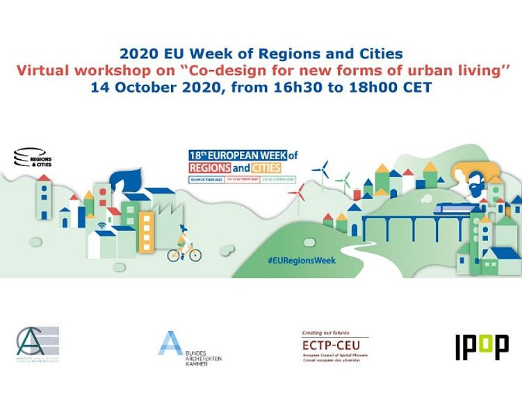 """During the 18th European Week of Regions and Cities, the @Ace_Cae, @BAK_Berlin, @ECTP_CEU & @_ipop are hosting a virtual workshop on habitat & urban space, examining how to engage an active citizenry in the """"creation and regeneration of the urban fabric."""" https://t.co/Zt6QfrzOjJ https://t.co/QAudYehUBg"""