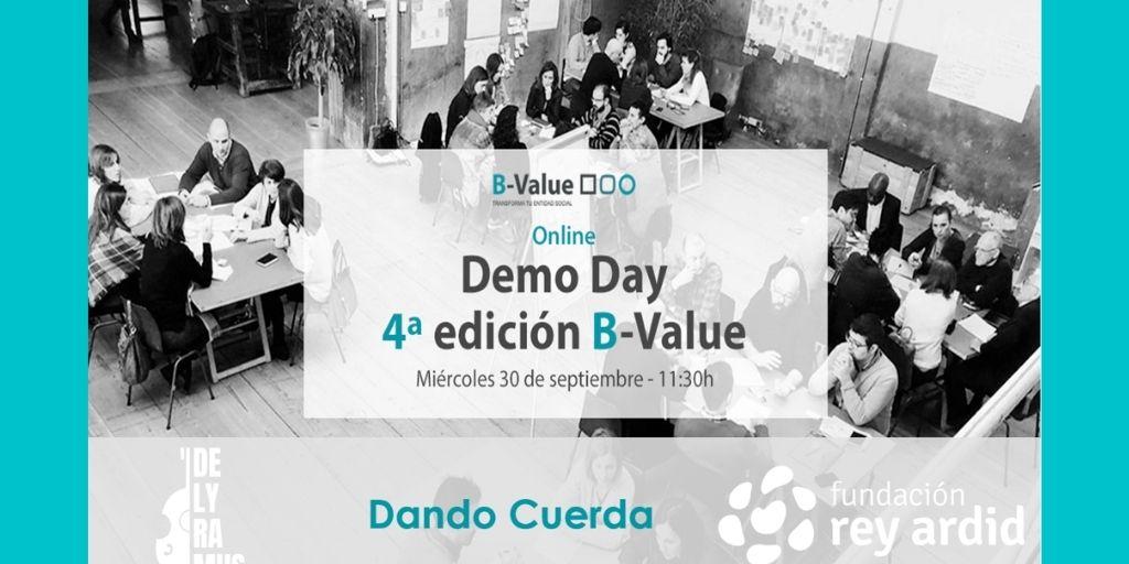 """🚀SOMOS FINALISTAS🚀 en #BValue con el proyecto🎻""""DANDO CUERDA""""🎻 para la inserción laboral de personas con #EnfermedadMental   💥Te invitamos al 💡Demo Day con @FBSabadell @Banco Sabadell y @Ship2B  Consigue tu entrada aquí 👉https://t.co/Dmv6cPrf0B   #BValueTransforma https://t.co/jeHQvGsEtC"""