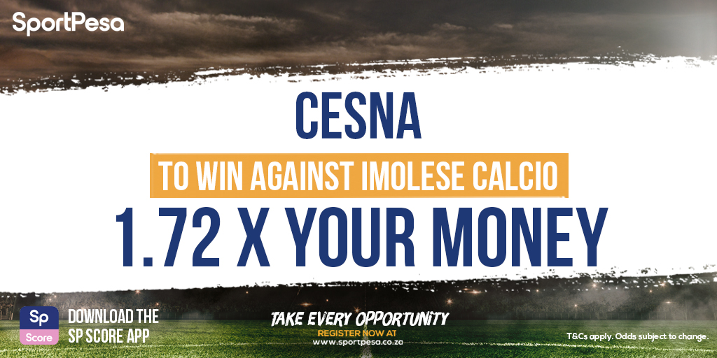 Cesna play Imolese Calcio in today's #internationalfriendly action! ⚽️ Get 1.72 x your money with a play on Cesna to win ➡️ https://t.co/02W0kHmgpq https://t.co/95lVHRo0mW