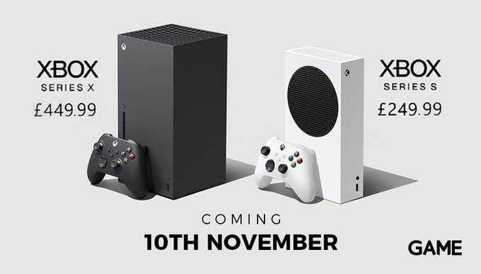MASSIVE ANNOUNCEMENT   Finally we've received the news we've been waiting for! The next addition to the Xbox family - the #XboxSeriesX & #XboxSeriesS coming to stores 10th November‼  Video game Series X - £449.99 Video game Series S - £249.99  The next generation is upon us! https://t.co/MxEWgPZTEF