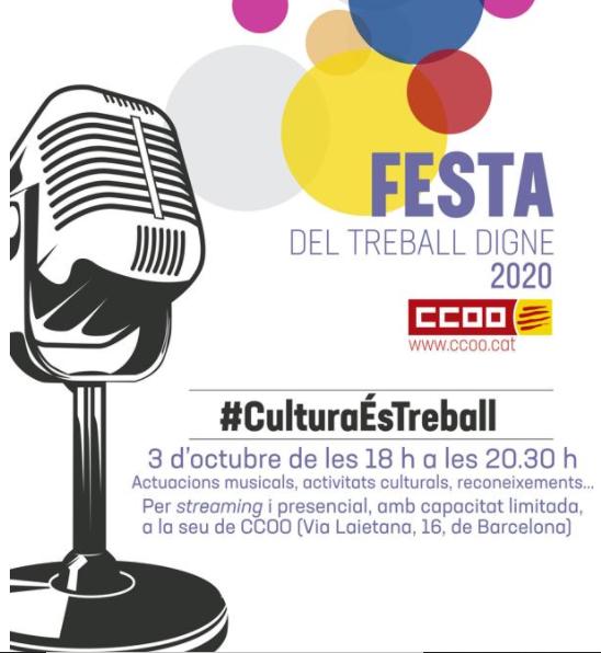 FESTA DEL TREBALL DIGNE 2020✊  #CulturaÉsTreball  Més informació i compra de bons d'ajut: https://t.co/1YMQ2ZnS9J https://t.co/FkF5kjMGDg