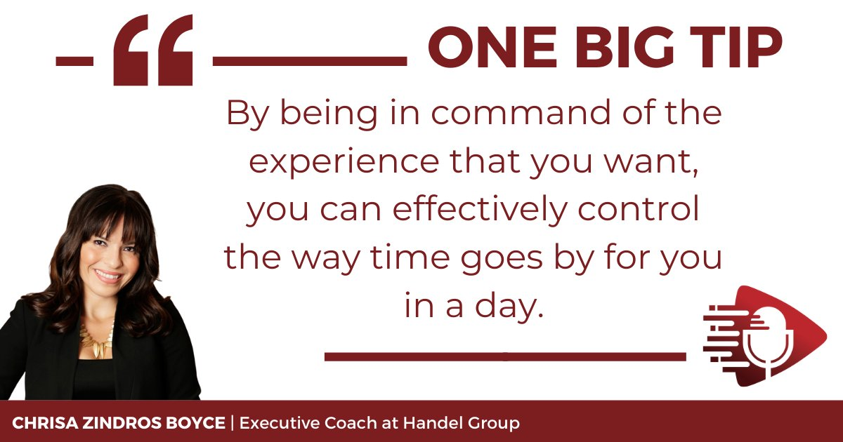 """Chrisa's One Big Tip to stay productive & inspired throughout the day is to use """"a daily moment of pause, where you get to sit down and actually be intentional about how you want your day to go."""" Listen to #OneBigTip podcast E56 https://t.co/iM3JRT4ZDm #entrepreneurship #success https://t.co/4TRVrqZzqz"""
