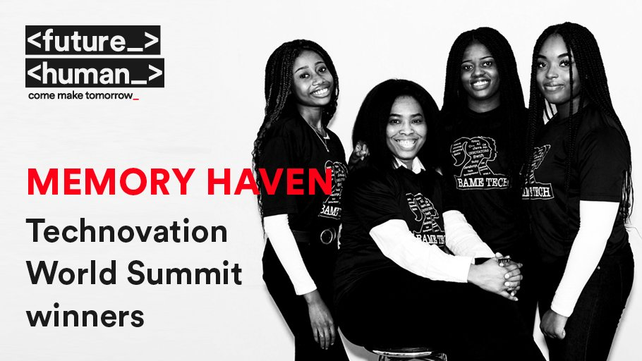 Meet Team Memory Haven: Margaret Akano, Rachael Akano, Joy Njekwe & team mentor @evelynnomayo who were the winners of the senior girls' division at the  @technovation World Summit.  Tickets available @ https://t.co/eIsCao0UKL⠀⠀ #FutureHuman #ComeMakeTomorrow @rte @nomayo_evelyn https://t.co/d4cQv4Gq63