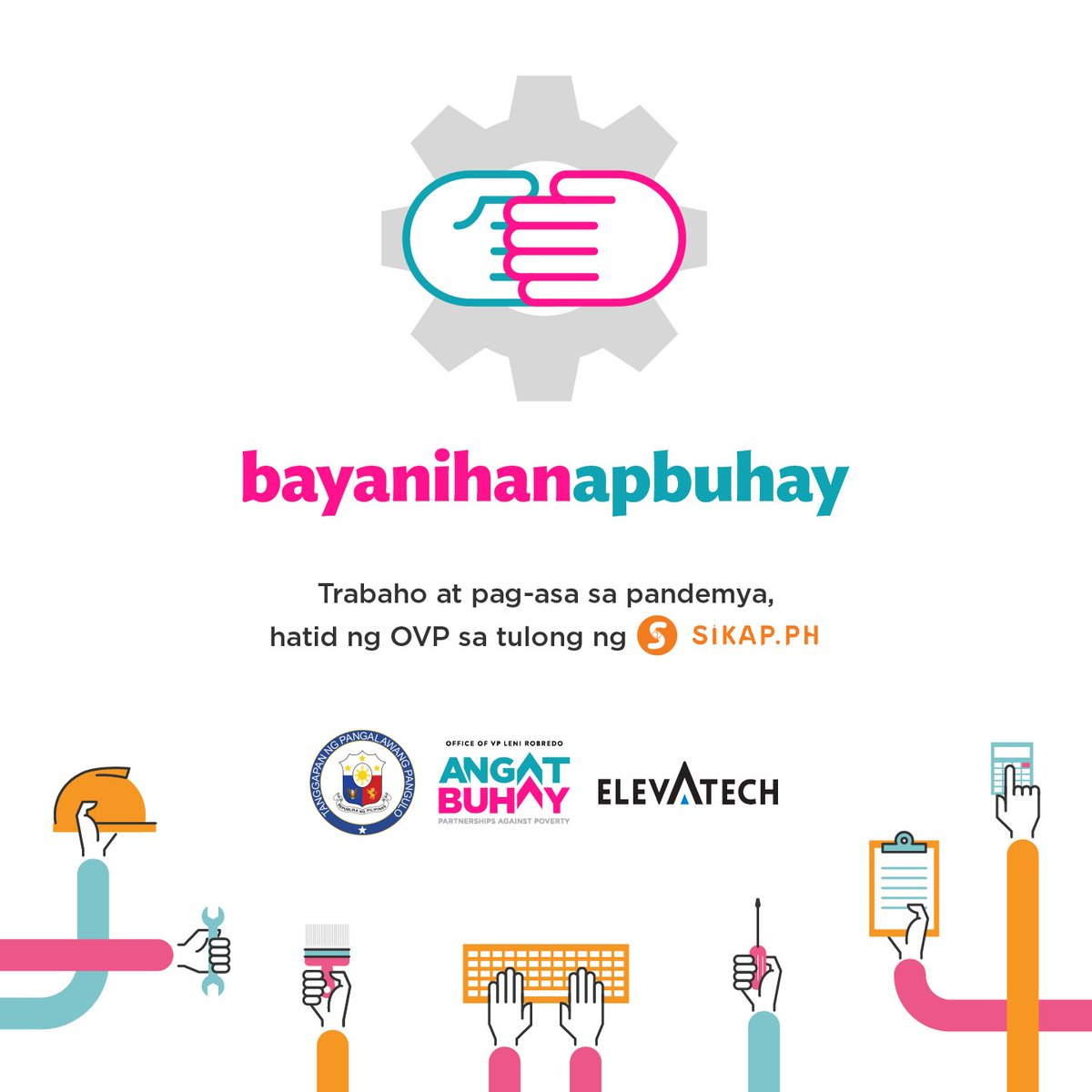 Today, we are launching our new initiative, BAYANIHANAPBUHAY—our response to help those who lost their jobs amid this crisis.  We have partnered with https://t.co/8wTLqDZmgx to put up a platform, which those who need jobs and those who need workers can use free of charge. https://t.co/WTQR91AoUT
