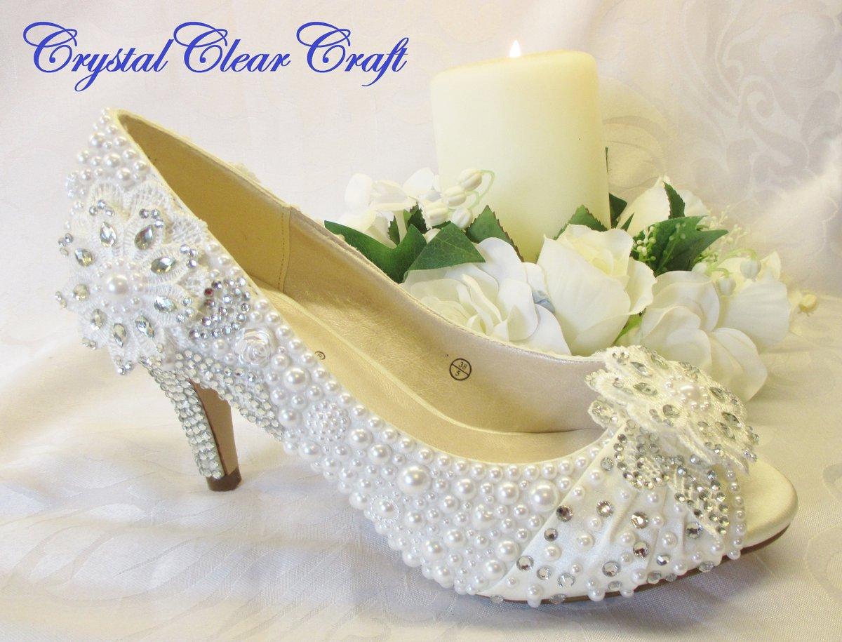 SALE Flat lace Bridal Shoes Size UK7US9,