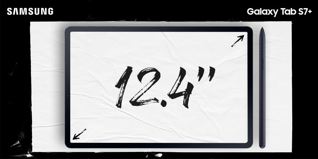 Η δύναμη του να βλέπεις ακόμα περισσότερα. Νέο #GalaxyTabS7 με 10% μεγαλύτερη οθόνη. Μην το κοιτάς… ζήσ' το! https://t.co/x4oy7a07Jo #DoWhatYouCant https://t.co/KHeSc3F3Hm